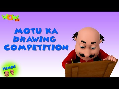 Motu Ka Drawing Competition - Motu Patlu in Hindi - 3D Animation Cartoon for Kids
