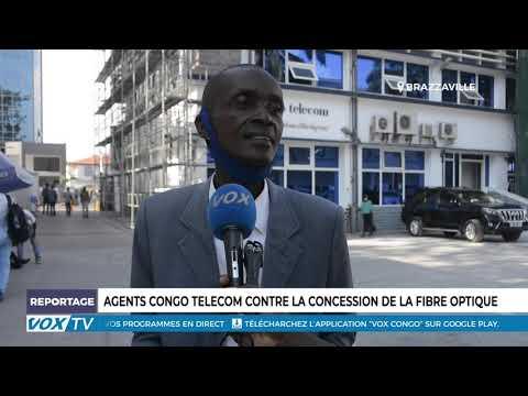Agents Congo Télécom contre la concession de la fibre optique