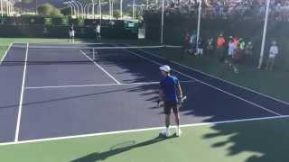 Novak Djokovic / Jeremy Chardy Indian Wells 2015 BNP Paribas Open 3/14/15 Practice