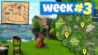 Fortnite WEEK 3 Challenges Guide - Clay Pigeon Locations, Flush Factory Treasure Map