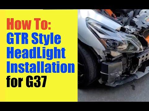 Install GTR Style Headlights in G37X Sedan | Infiniti Upgrades | DIY Head Light Installation