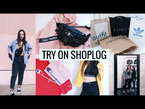 TRY ON SHOPLOG herfst 2017 (Urban Outfitters, Bershka, Adidas, Champion, CDG)