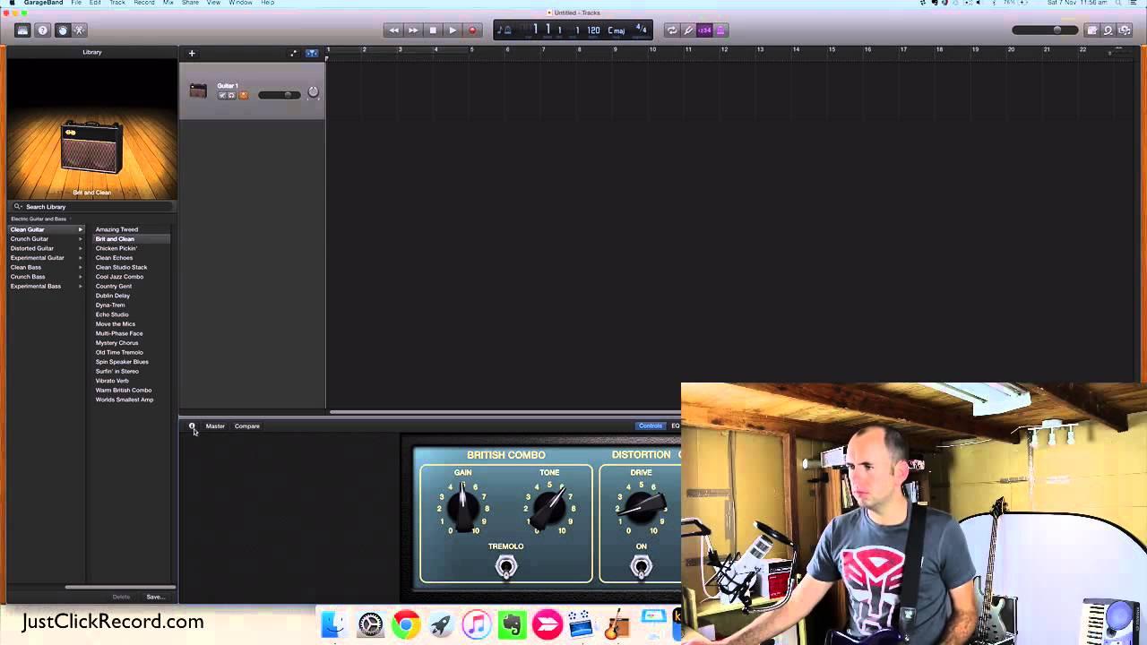 recording electric guitar with garageband youtube. Black Bedroom Furniture Sets. Home Design Ideas