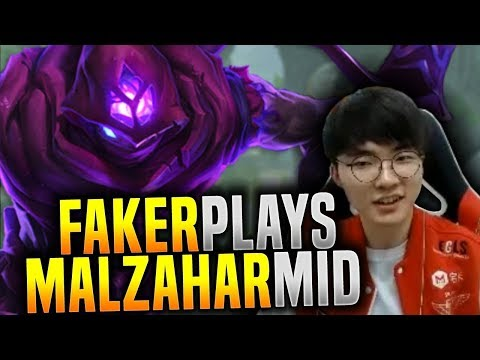 Faker Chilling with His Malzahar! - SKT T1 Faker KR SoloQ Playing Malzahar Mid! | SKT T1 Replays