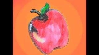 How to draw an Apple / Wie man einen Apfel zeichnet Deutsch