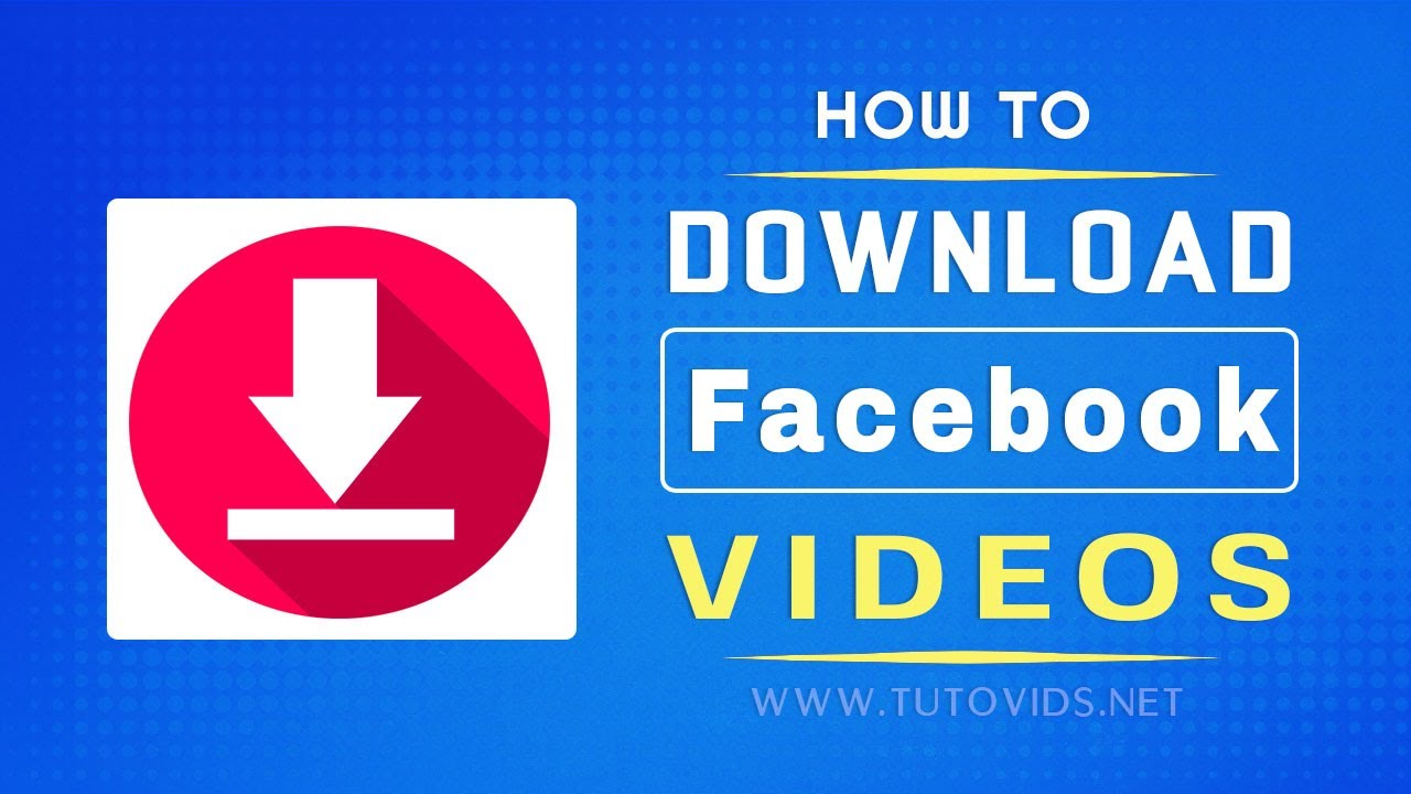 cd907558e21c How to Download Facebook Videos  without using any software  - YouTube