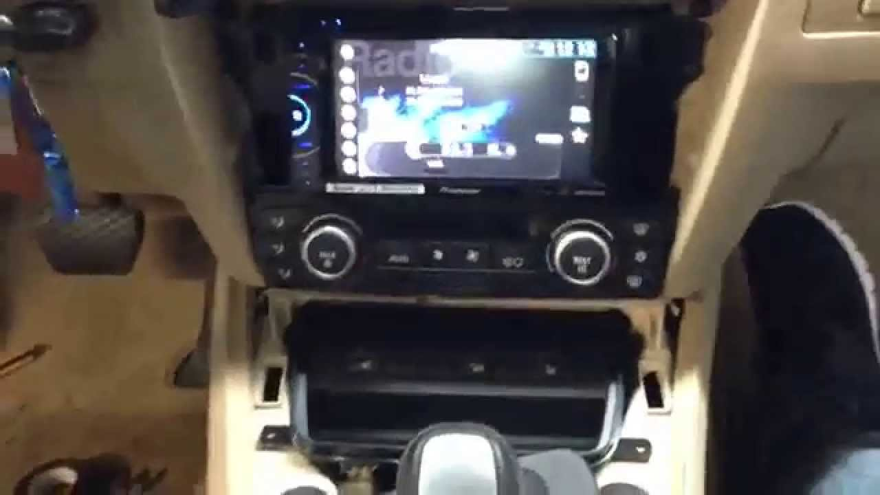bmw e90 3 series double din radio install youtube. Black Bedroom Furniture Sets. Home Design Ideas