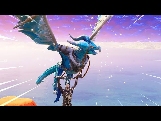 The New Frostwing Glider Gameplay in Fortnite..