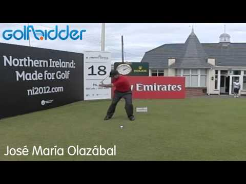 Jose Maria Olazabal Golf Swing Slow Motion