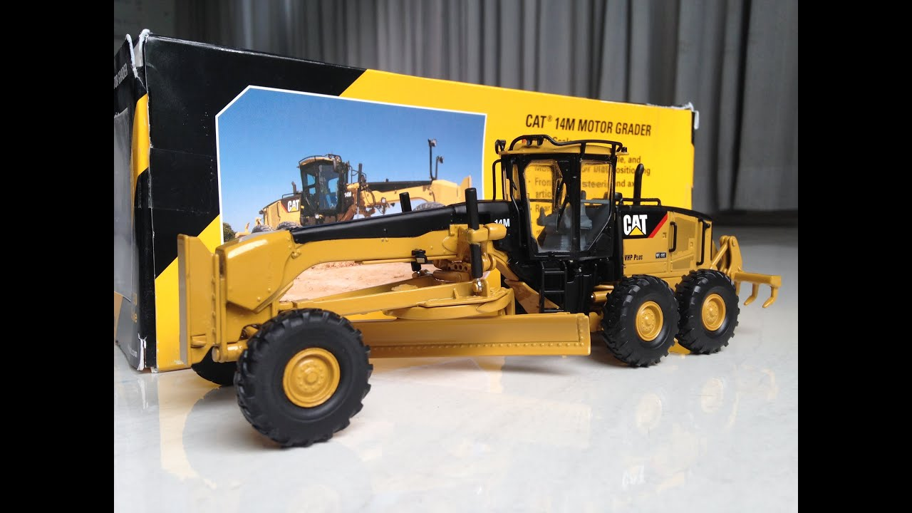 CAT 14M MOTOR GRADER 1/50 SCALE - UNBOXING - YouTube