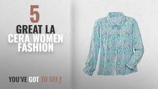 La Cera Women Fashion [2018 Best Sellers]: La Cera Flannel Bed Jacket, Aqua Floral, X-Large
