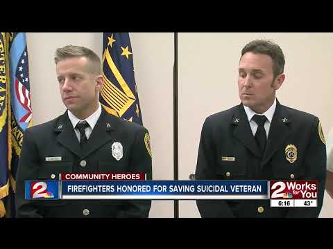 COMMUNITY HEROES: Firefighters Honored for Saving Suicidal Veteran