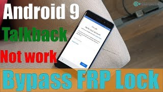 (Free) How To Bypass FRP Lock ANDROID 9 (Pie) Talkback Not Working