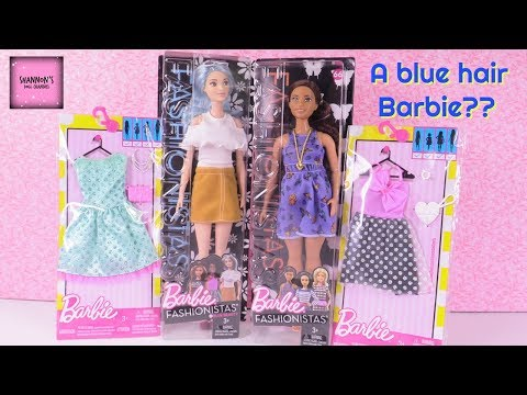 barbie-new-fashionistas-blue-beauty-beautiful-butterflies-doll-unboxing-fashion-haul-|-shannonsdollc