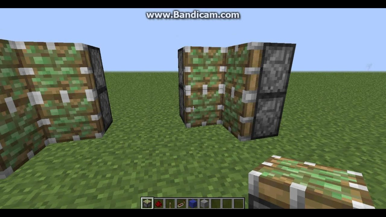 & how to build a simple classic jeb door minecraft - YouTube