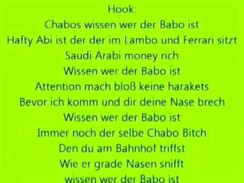 Haftbefehl - Chabos wissen wer der Babo ist - LYRICS