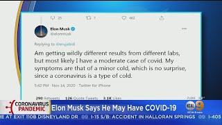 Spacex chief elon musk may have coronavirus after conflicting test results. amy johnson reports.