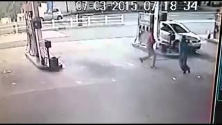 CCTV footage of Durban garage cash heist