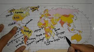 Dünya Haritası Tanıtımı Ülkeler, Dilsiz Harita