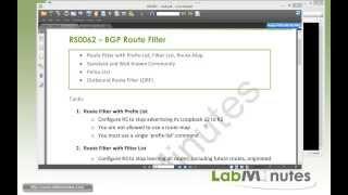 LabMinutes# RS0062 - Cisco BGP Route Filter (Part 1)