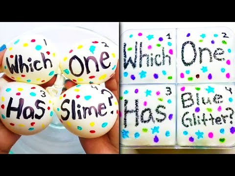 Guess The Color Slime Challenge l Most Satisfying Slime ASMR Compilation 2018