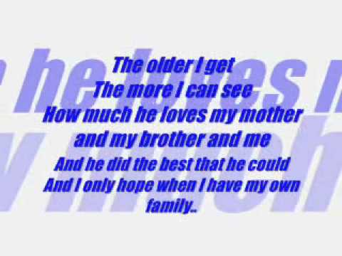 Keith Urban - Song For Dad Lyrics