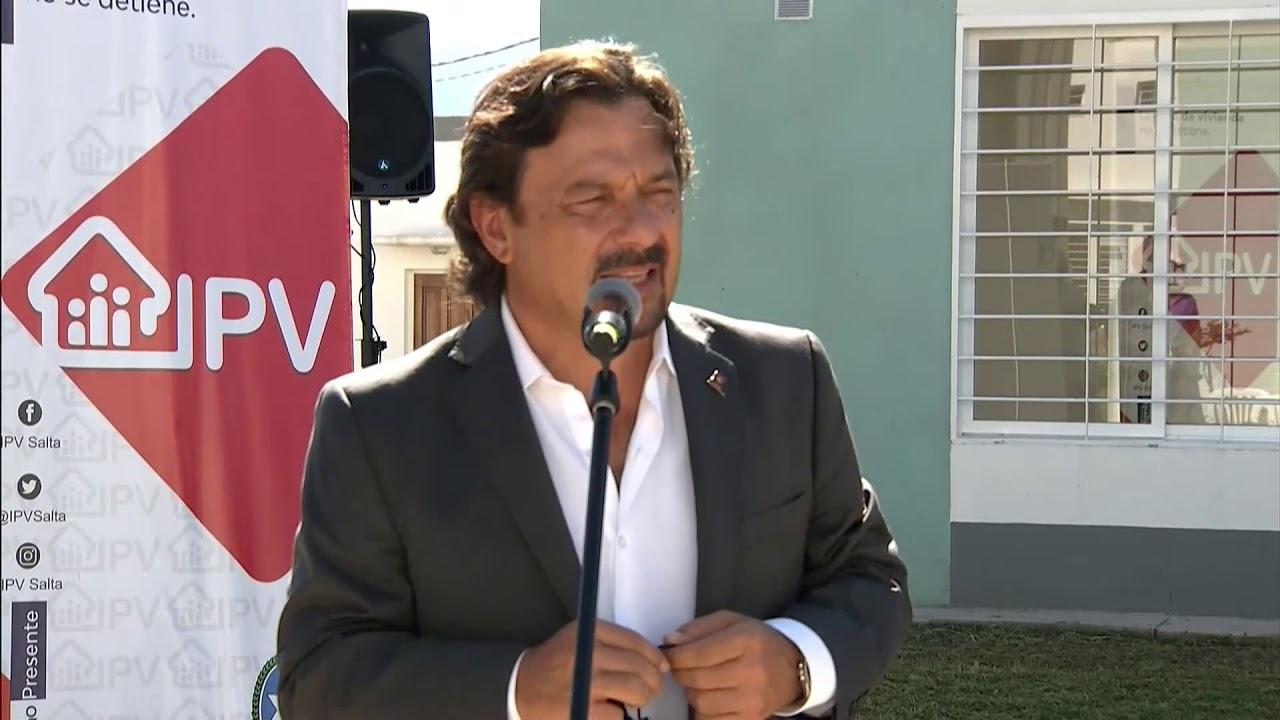 El gobernador Sáenz entregó 95 viviendas en el barrio Pereyra Rozas