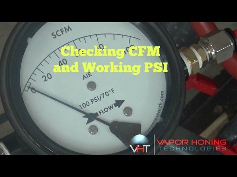 Wet Blasting Machine CFM and PSI Requirements- Vapor Honing Technologies