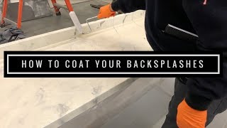 Epoxy Countertop Tutorial: How to Coat your Backsplashes