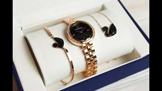 Женский подарочный набор. Часы, браслет, кулон. Купить в Украине. Обзор.