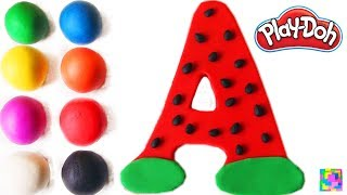 The Letter A. Learning ABC with play doh. Learn Colors & alphabet f...
