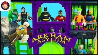 Imaginext Arkham Asylum Batman and Robin Battle Bane Solomon Grundy The Joker Riddler Mr Freeze