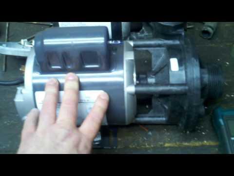 testing and replacing or servicing a hot tub or pool recirculating pump