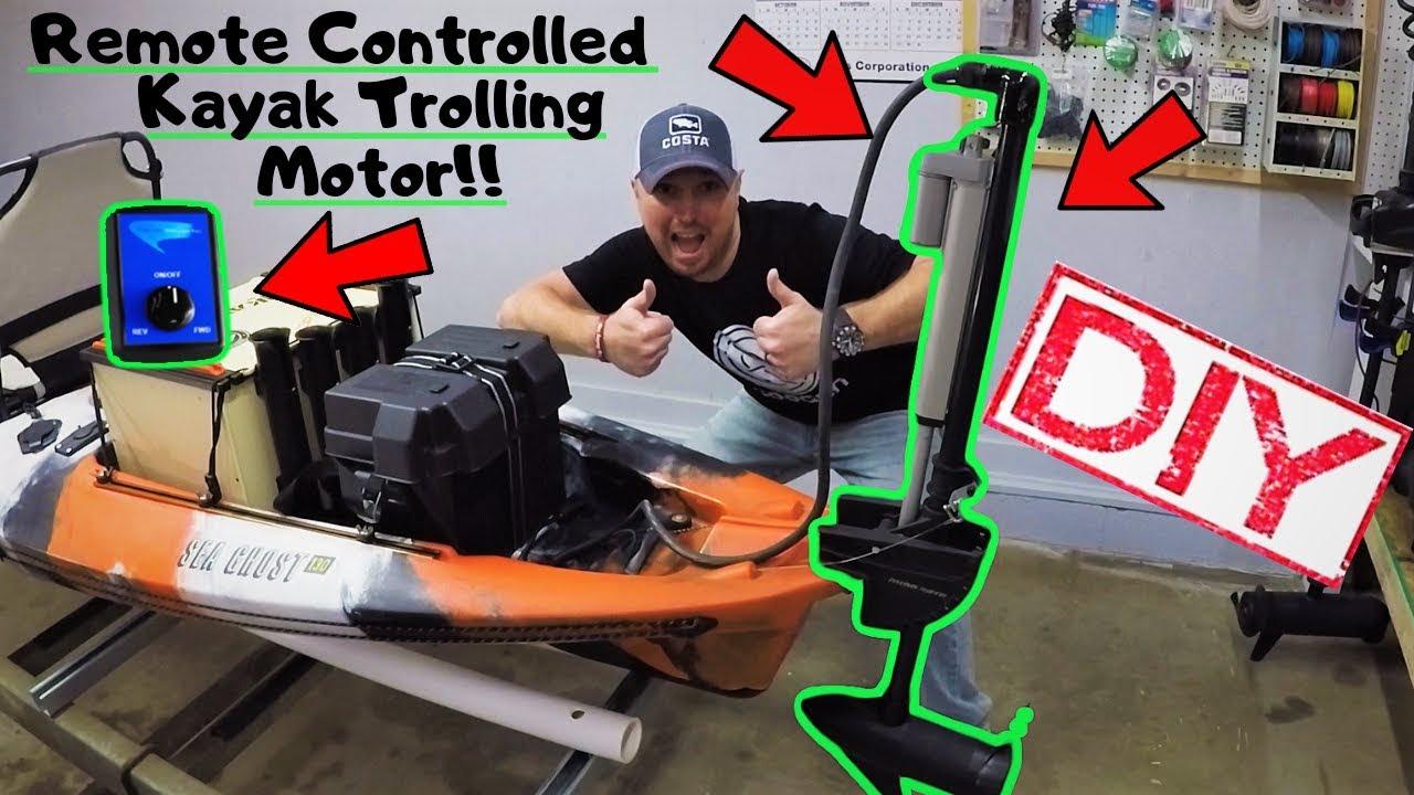 Kayak Trolling Motor with wireless remote control / DIY