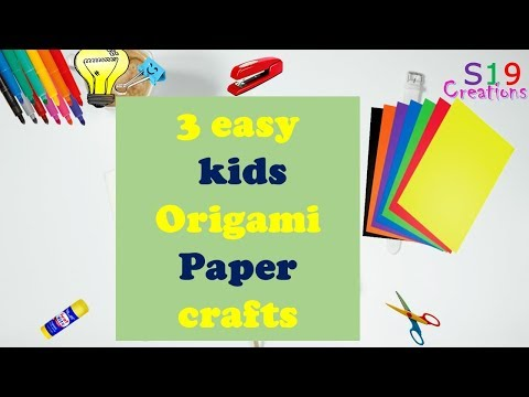 3 Easy ORIGAMI CRAFTS for kids | Paper crafts | easy origami for beginners | origami tutorial