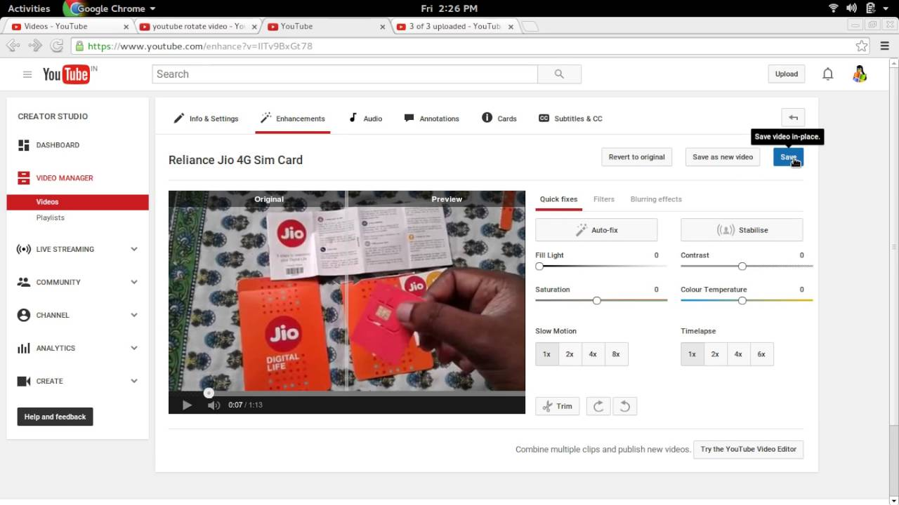 How to rotate a youtube video left and right youtube how to rotate a youtube video left and right ccuart Image collections