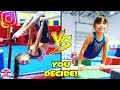 GYMNASTICS CHALLENGE Instagram Followers Control Our Challenge (you decide)