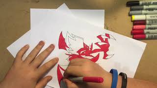 Drawing Jake long in his dragon form