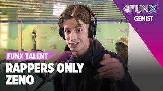 Zeno rapt op DRIE BEATS FunX Talent Rappers Only Tweede Ronde