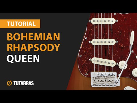 How to play BOHEMIAN RHAPSODY from QUEEN - Electric Guitar GUITAR LESSON