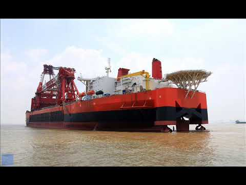 FLOATING CRANE CHARTER CRANE BARGE HIRE RENT BUY CRANE SHIP VESSEL SELL SALE