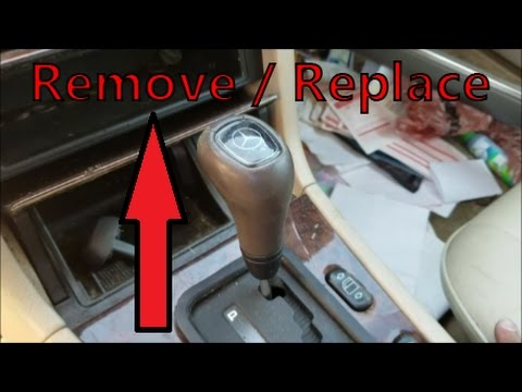 How to remove install a mercedes gear shift knob c for Mercedes benz not shifting gears