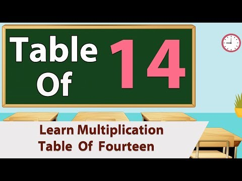 14 Times Table Multiplication For Beginners 14x Table Learn Fourteen Multiplication Tables For Kids