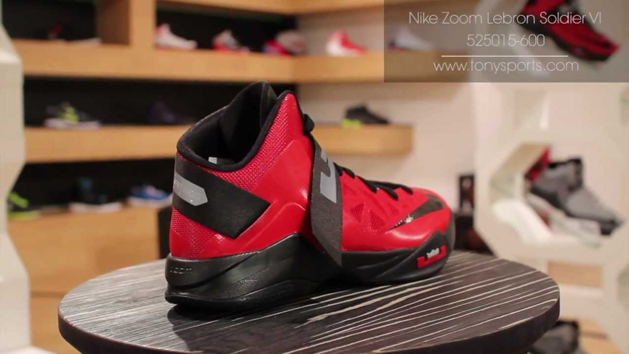info for cecfe ada13 Nike Zoom Lebron Soldier VI - Red Black Grey - 525015-600 www.tonysports.com