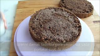 Çikolatalı yaş pasta tarifi - Çikolatalı kolay yaş pasta nasıl yapılır - Yaş pasta tarifleri
