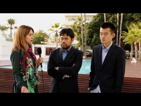 Round 6. Interview with Hikaru Nakamura and Ding Liren