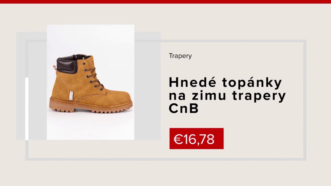c6654649f018 Hnedé topánky na zimu trapery CnB NAJ.SK - YouTube