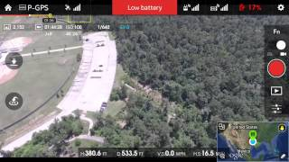 DJI Phantom 3 Critical Low Battery