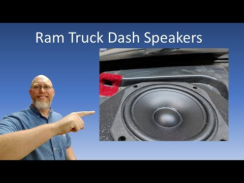 How To Install Dash Speakers:  Dodge Ram Three Way Front Stage Part 3!