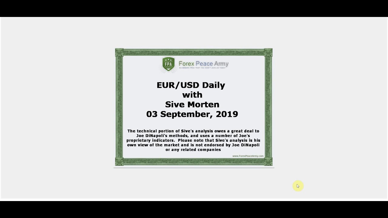 Forex - EUR/USD Daily Video, 03 September, 2019 | Forex